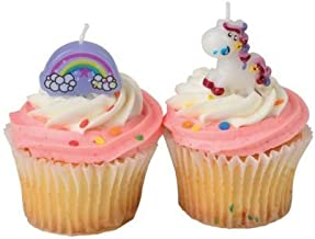 J&J's ToyScape Unicorn Candle Set (Pack of 8 Candles) Themed Birthday Party Supplies, Party Decorations