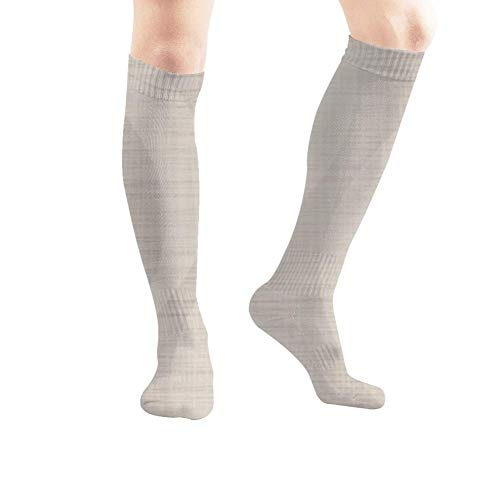 Qifejko Light Cotton Fabric Wavy Illustrations Clip Art Women's Men's Knee High Socks Athletic Socks 19.7