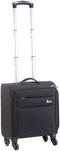 Xcase Pilotenkoffer: Business-Trolley, Notebook-Fach, 4 Leichtlauf-Rollen, 21 Liter, 2,3 kg (Aktenkoffer)