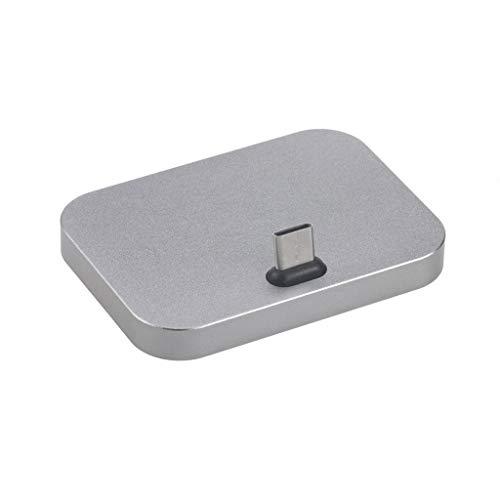 for DJI Osmo Pocket zubehör,Smart Motion Kamera Charging Stand Fast Dock Desktop Ladestation Ladestation Cradle Station for DJI Osmo Pocket (Silber)