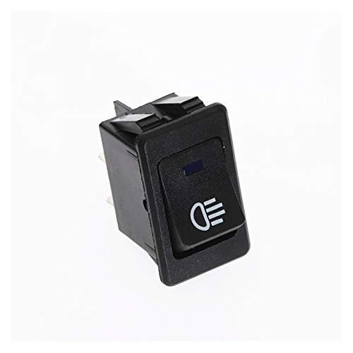 interruptor pulsador 1pcs impermeable de enclavamiento Rocker Toggle Interruptor amarillo azul verde 4Pin 2 Posicione 12V 35A Car Auto luz de niebla Rocker Toggle ( Color : Blue , Voltage : 12V )