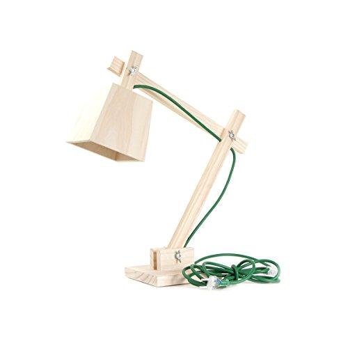 Muuto - Tischlampe, Lampe, Schreibtischlampe - Wood Lamp - Grün - 50 x 50 cm