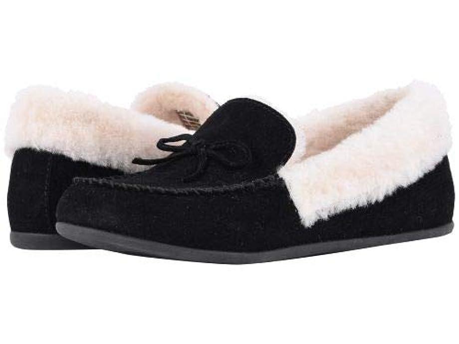 再生的感謝する非行FitFlop(フィットフロップ) レディース 女性用 シューズ 靴 スリッパ Clara Moccasin - Black [並行輸入品]