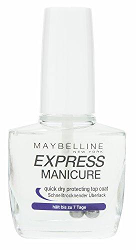 Maybelline New York Nagelpflege, Express Manicure Schnelltrocknender Überlack, Transparent