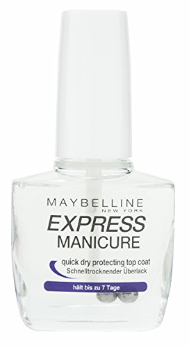 Maybelline New York Make-Up Nailpolish Express Manicure Überlack Quick Dry / Ulta schnelltrocknender Top Coat, 10 ml