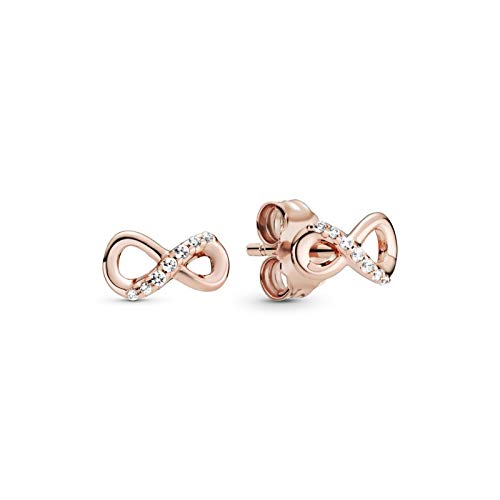Pandora Infinity Rose Earrings
