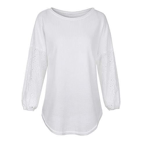 Mujeres, Camisas y, Blusa, Hueco, Largo, Manga, Camisa, Sólido, Color,...