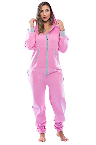 6438-PNK-S #followme Adult Onesie Pajamas Jumpsuit
