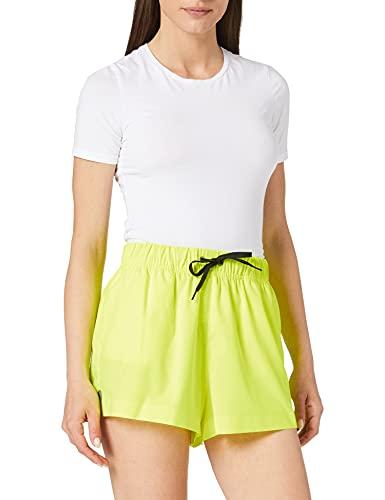 PUMA Womens Swim Women's High Waist Shorts Bikini Bottoms, neon Yellow, XL