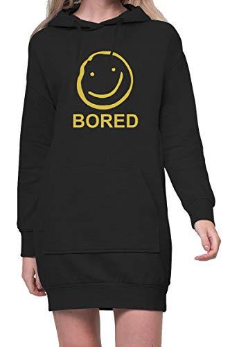 TShirt-People Bored - Vestido con capucha para mujer Negro XXL