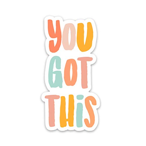 You got this sticker quote | Inspirational decals | Waterproof vinyl stickers & decals | Self care stickers for a hydro flask, laptop etc
