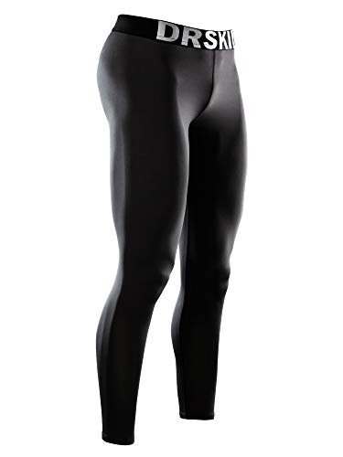 DRSKIN Men's Compression Pants Dry Cool Sports Baselayer Running Workout Active Tights Leggings Yoga (Classic B01, M)