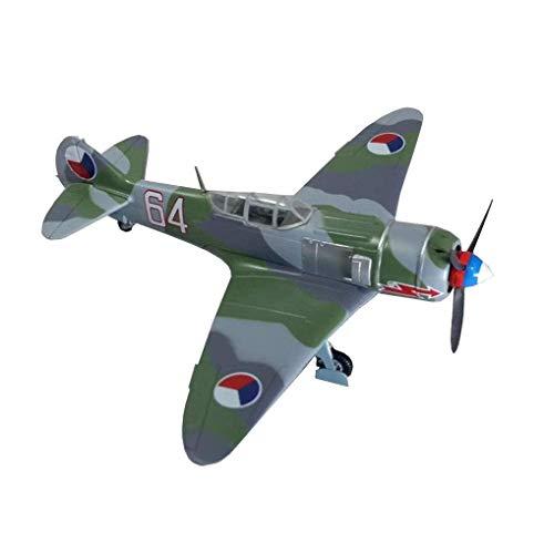 GLXLSBZ Plastikmodell für Kämpfer im Maßstab 1:72, sowjetische Sammlerstücke und Geschenke für Erwachsene LA-7-Kämpfer, 6,6 Zoll x 5,3 Zoll