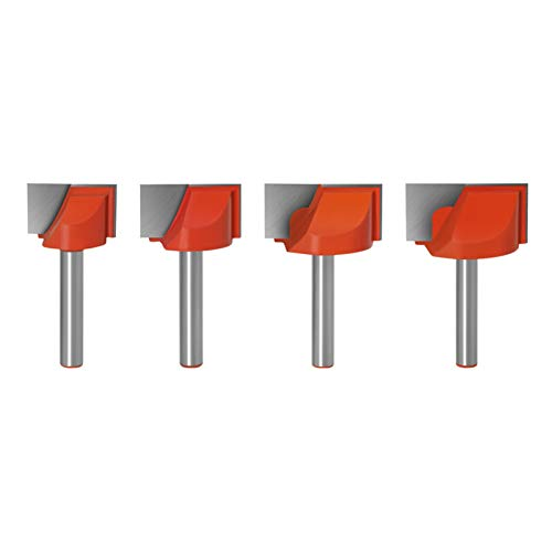 Haodasi 4pcs 6mm Shank Flush Trim Router Bits Carbide Bottom Cleaning Slotting Woodworking Milling Cutter Grooving Tools for Wood (22/25/30/32mm)