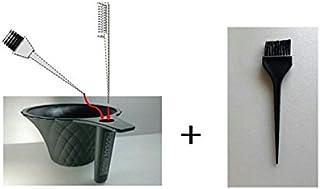 【ヘアカラーカップ+ブラシ】セルフカラー用 持ちやすくて便利