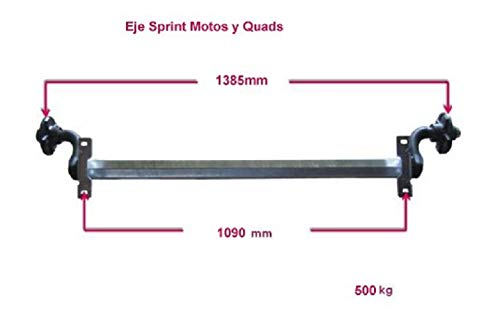 EJE SPRINT MOTOS III Y QUADS 500 KG