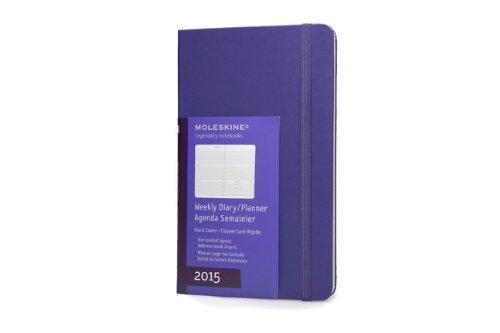 Moleskine 2015 Weekly Planner, Horizontal, 12 Month, Large, Brilliant Violet, Hard Cover (5 x 8.25)