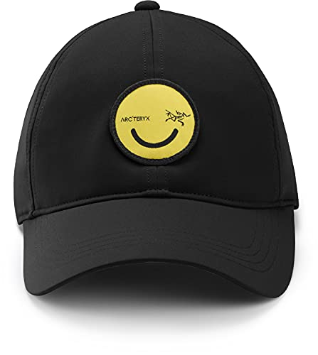 Arc'teryx All Smiles Ball Cap | Performance Cap with a Fun Graphic | Black, One Size