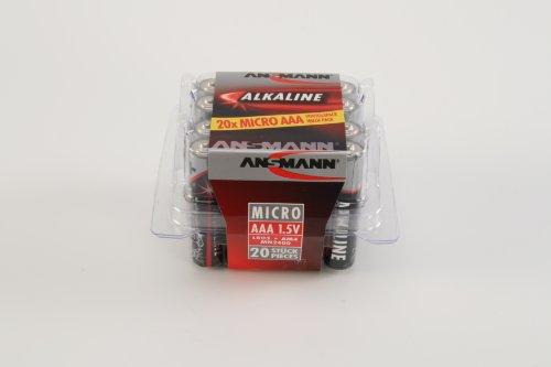 ANSMANN Alkaline Batterie Micro AAA / LR03 1.5V / Longlife Alkalibatterie Sparpaket in einer praktischen Vorratsbox / 20 Stück