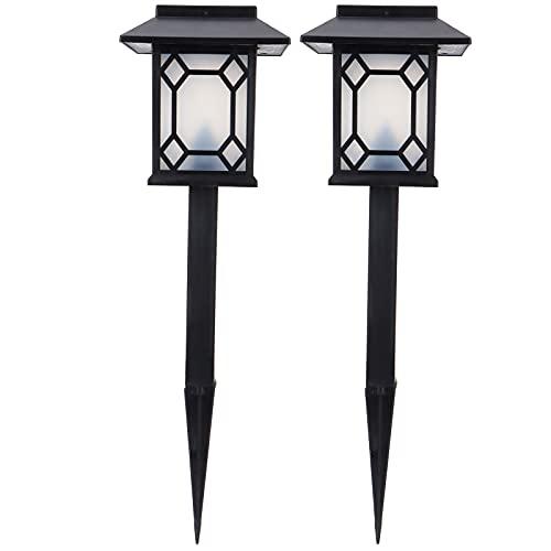 XINL Lámpara de Paisaje, Luces LED de Camino, luz Solar LED para Patio