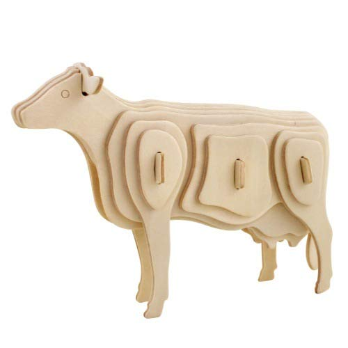 LVEDU 3D-Puzzle aus Holz, 4 Stück
