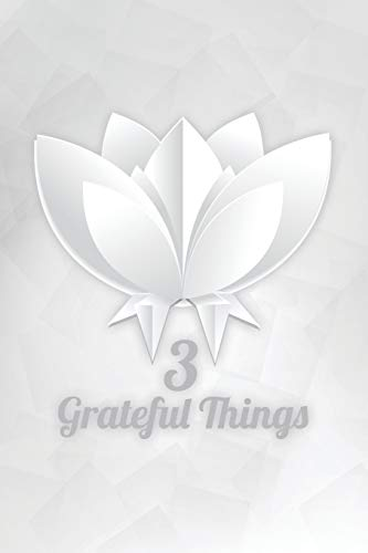 3 Grateful Things: Origami Flower Wide Ruled Notebook to Write In
