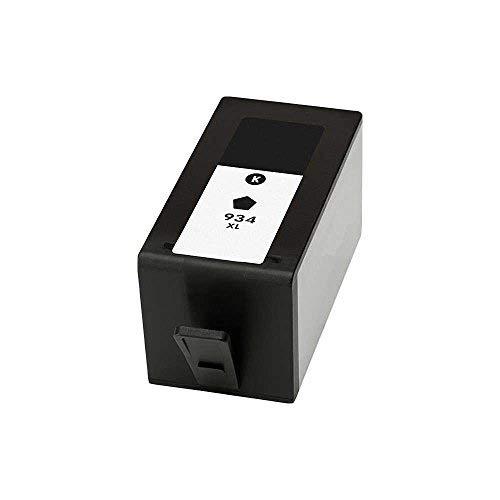 InkJello Compatible Tinta Cartucho Reemplazo para HP Officejet 6820 e-All-in-One, Pro 6230 ePrinter, Pro 6830 e-All-in-One 934XL/935XL (Negro/Cian/Magenta/Amarillo, 4-Pack)