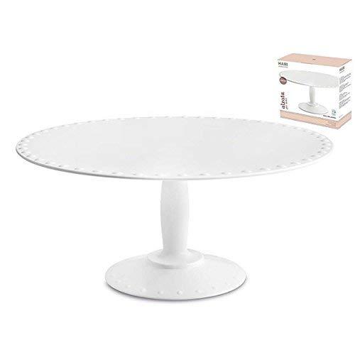 HABI Ac1654M Alzata melamina cm28 Vassoi per la Arredo tavola Tessili, Bianco
