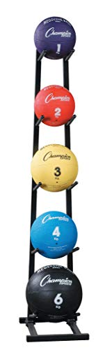 Champion Sports MBR1 Medicine Ball Tree Black, 14 Inch L X 11 Inch W X 52 Inch H