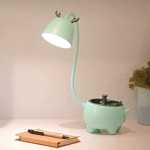 LLDE Lámpara de mesa regulable Smart Touch USB carga Pet LED lámpara de mesa lámpara de mesa 3 modos de iluminación ajustable lámpara de escritorio lámpara de escritorio lámpara para niños regalo