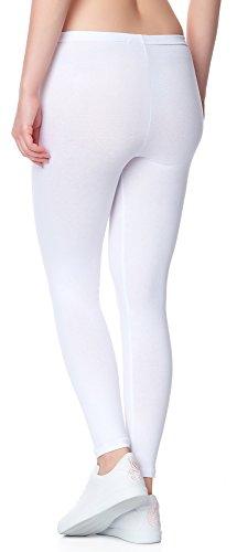 Ladeheid Leggins Pantalones Largos Ropa Deportiva Mujer LAMA02 (Blanco11, 2XL/3XL)