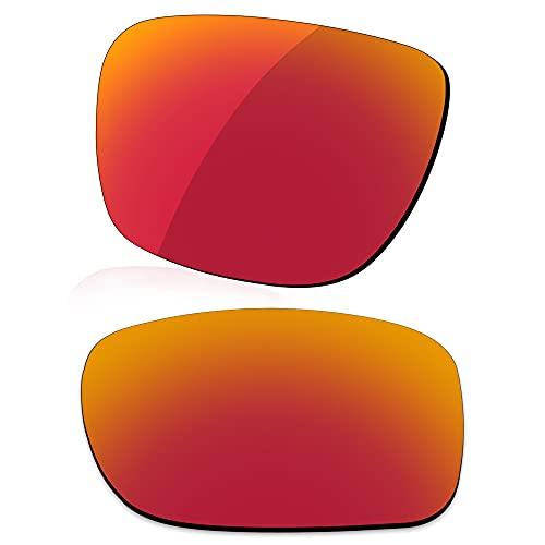 LenzReborn Verres polarisés de rechange pour lunettes de soleil Costa Del Mar Gannet, Rouge feu – Miroir polarisé, Taille unique