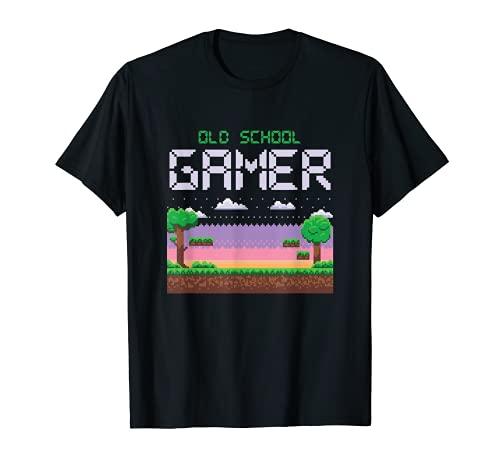 Old Retro School Gamer Geek Pixel - Ventilador para consola de videojuegos Camiseta