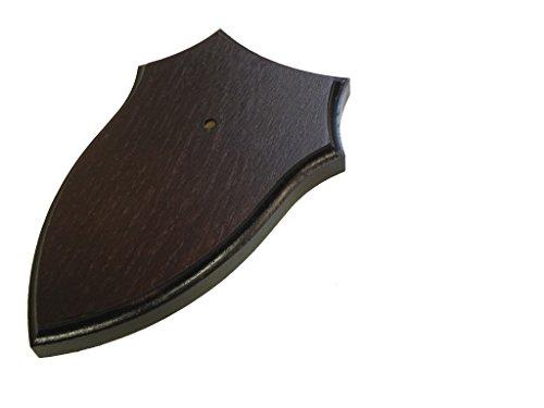 Cartel de trofeo, corzo, tabla de oídos, roble oscuro