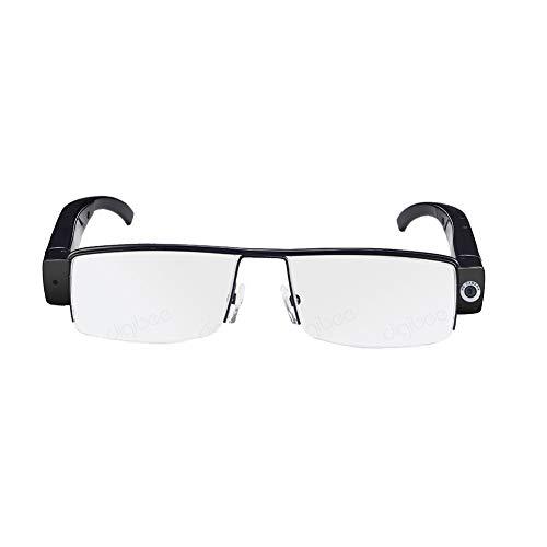 Mini cámara portátil Gafas, 32GB 1080P HD Video Recorder, gafas de sol con cámara de los deportes, deportes al aire libre Ciclismo Digital Lentes para la caza, pesca, vacaciones, conducción,Half frame