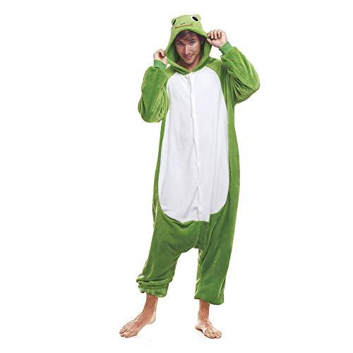 H HANSEL HOME Pijama Rana Cósmico Mujer Hombre Adulto Unisexo Disfraces Animal Carnaval Halloween Cosplay Cómodo Suave -M