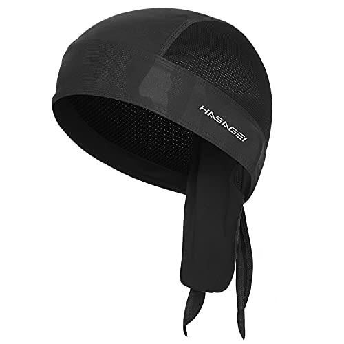 HASAGEI Sports Bandana Cap, Biker Bandana Cap, Kopftuch Herrem Damen, Sommermütze Fahrradmütze, Elastizität Atmungsaktiv Schweißableitender Quick Dry Kopfbedeckung