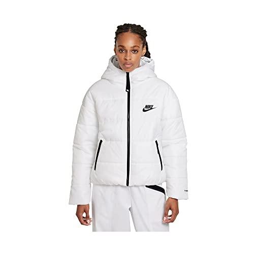 NIKE W NSW TF RPL Classic HD JKT Jacket, White/Black/Black, XS Women's