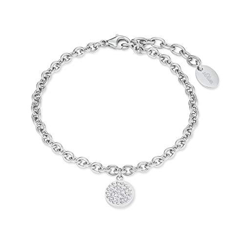 s.Oliver Armband für Damen mit Swarovski® Kristallen aus Edelstahl