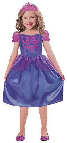Brandsseller Mädchen Kostüm Verkleidung Fasching Karneval Party - Prinzessin Kleid und Krone, S