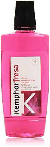 Kemphor - Fresa - Colutorio bucal fluorado - 500 ml