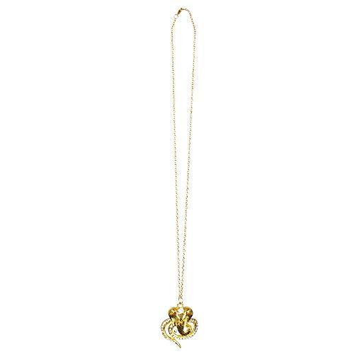 Boland 64337 - Halskette Schlange, 1 Stück, Einheitsgröße, goldene Kobra mit Strasssteinen, Ägypten, Nil, Cleopatra, Modeschmuck, Collier, Accessoire,...
