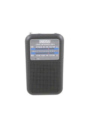 Oferta de Daewoo DRP-8 Personal Analógica Negro - Radio (Personal, Analógica, Am,FM, Analógica, Negro, Giratorio)