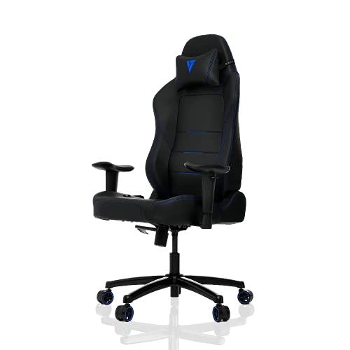 VerTAGEAR - Scrivania da ufficio per computer con schienale alto, in acciaio, nero, blu, P-Line PL1000 BIFMA Cert
