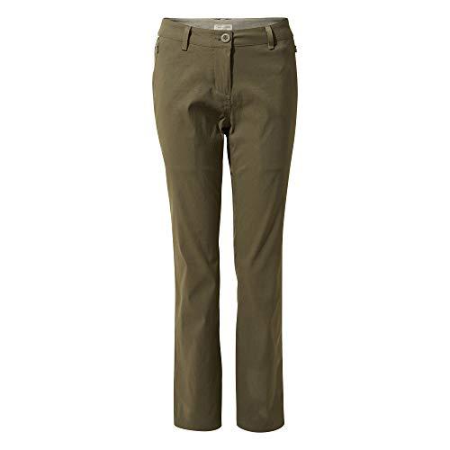 Craghoppers Kiwi Pro Pantalon pour Femme, Femme, Pantalon De Costume, CWJ1202R 1KQ20L, Kaki Moyen, 48