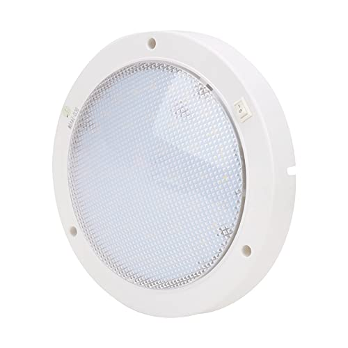 Panel de luz LED, panel de luz LED redondo de baja energía, blanco para yates, barcos, etc.(Blanco cálido)