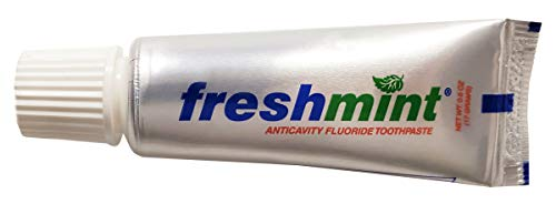 720 Tubes of Freshmint® 0.6 oz. Anticavity Fluoride Toothpaste, Metallic Tube, Tubes do not Have Individual Boxes for Extra Savings, Travel Size