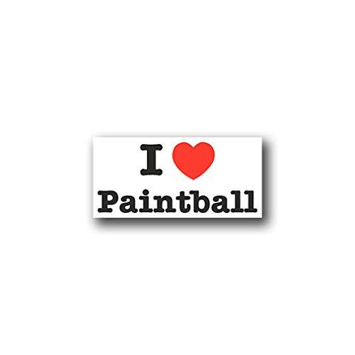 Sticker/sticker I Love Paintball Love liefde hart spel Fabre PB 15x7cm A927