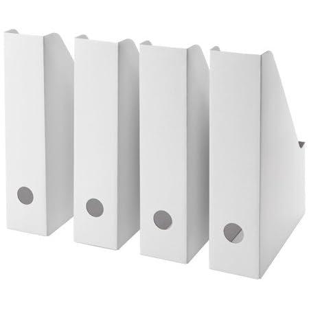 IKEA FLUNS White Magazine file Holder pack of 4 by FULNS
