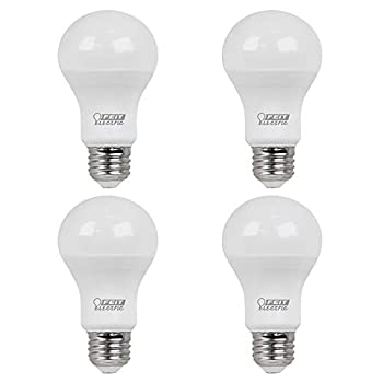 Feit Electric A800/835/10KLED/4 60W Equivalent 8.5 Watt A19 Non-Dimmable LED Light Bulb  4-Piece  3500K Neutral White 4.2  H x 2.4  D